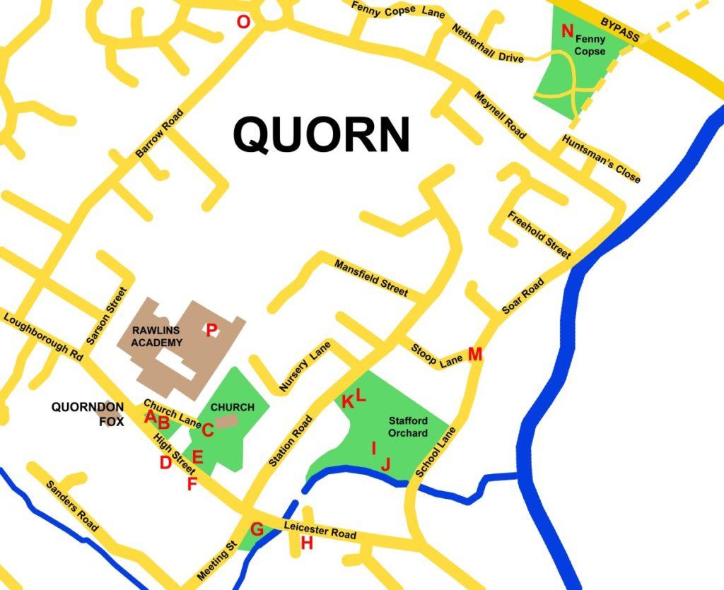 Quorn Sculpture Trail Map